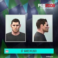 PES 6 Faces James Milner by El SergioJr