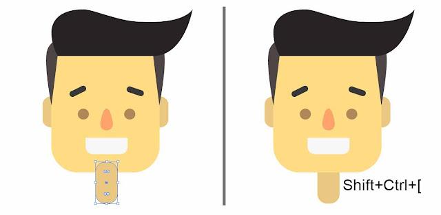 Cara membuat/menggambar boneka flat karakter dengan adobe illustrator
