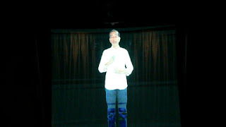 Jokowi Sapa Warga Kuningan Melalui Video Hologram Sosialisasikan Hasil Kerja