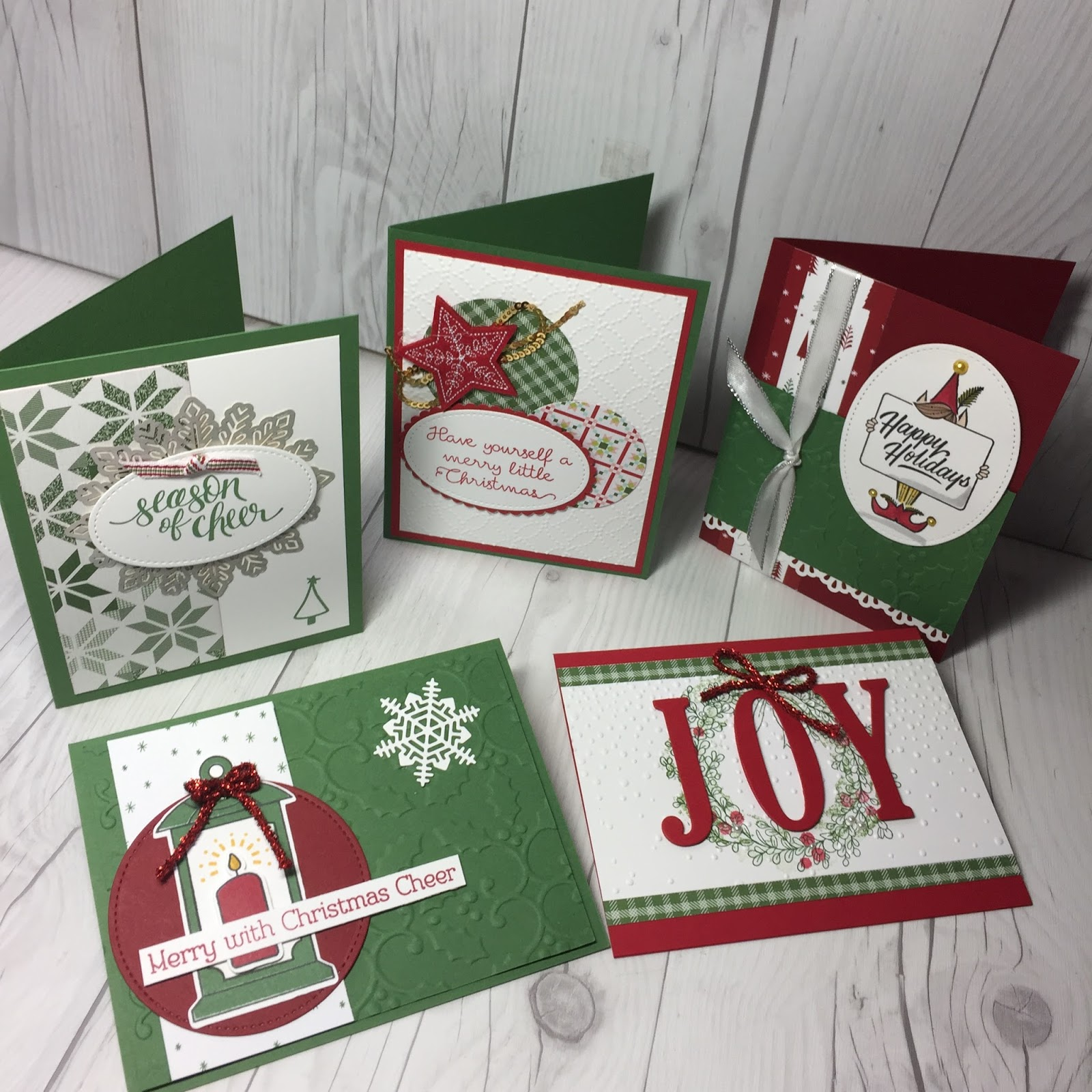 Christmas Card Swaps From Stampin Up Onstage Stamped Sophisticates