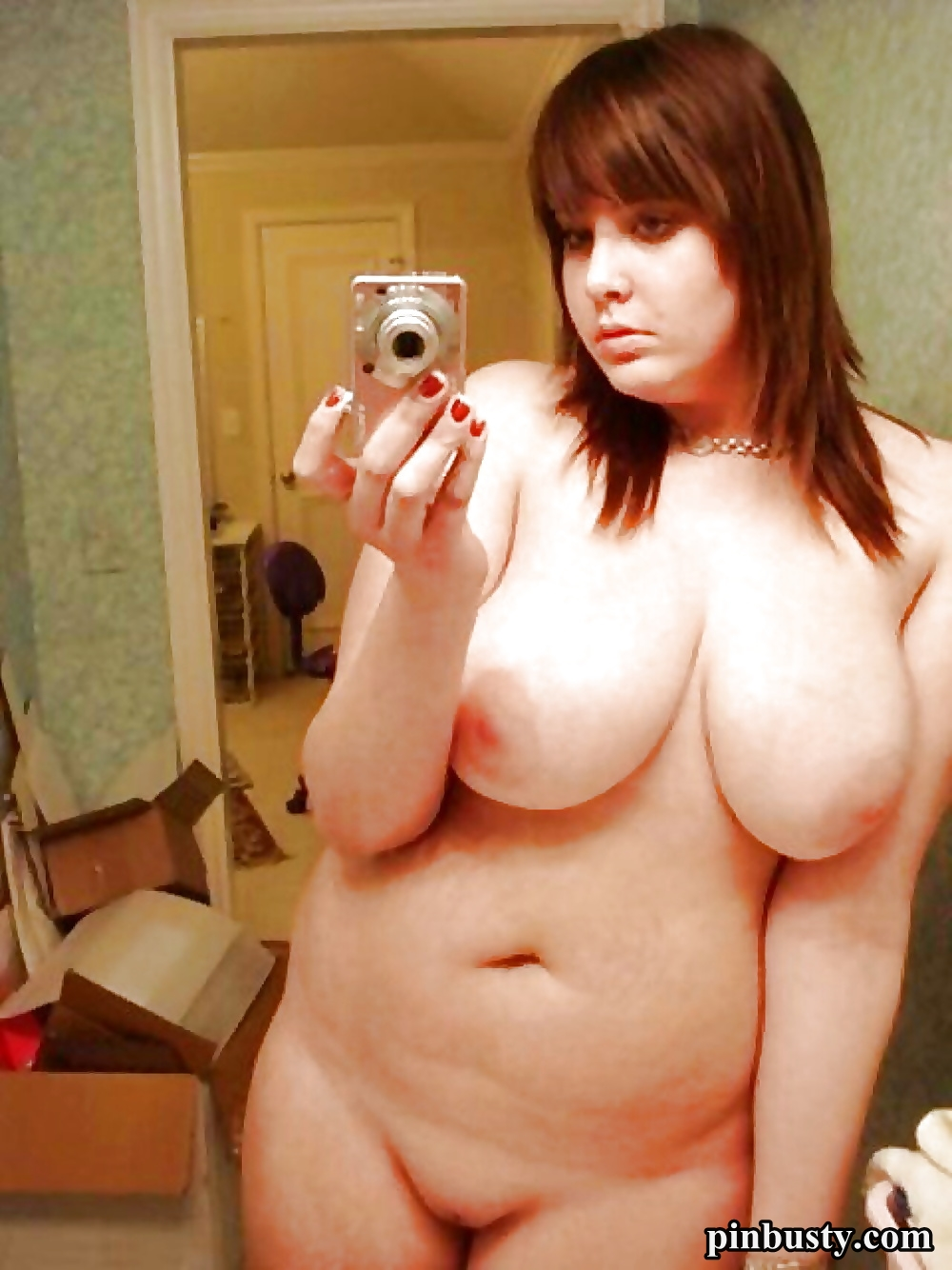 mirror girl naked selfie Chubby