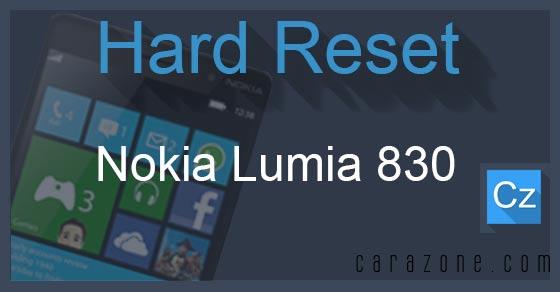 Cara Reset Ulang Nokia Lumia 830