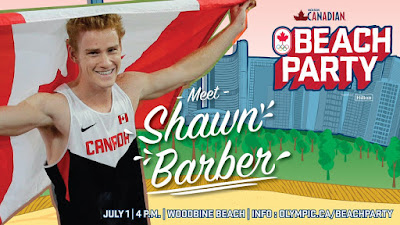 Canadian Send-Off Beach Party for Olympians to Summer Olympics 2016