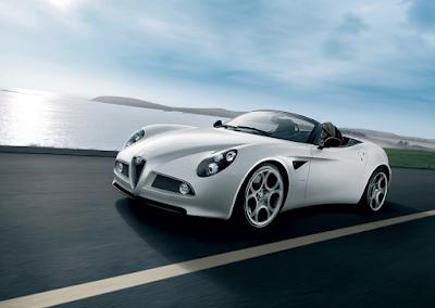 2009 Alfa Romeo 8C Spider white