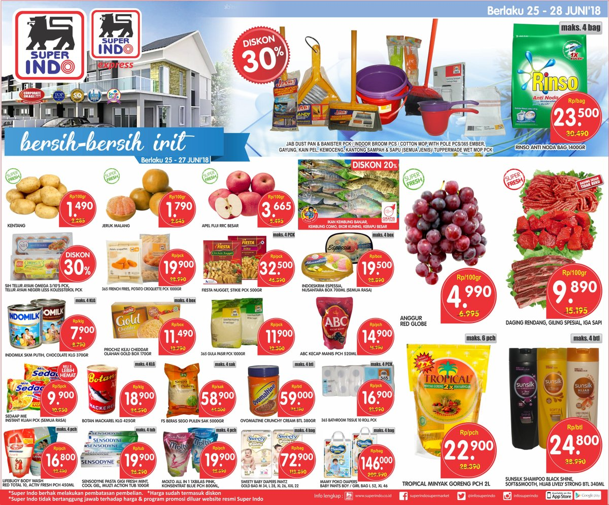 Superindo - Katalog Promo Periode 25 - 28 Juni 2018