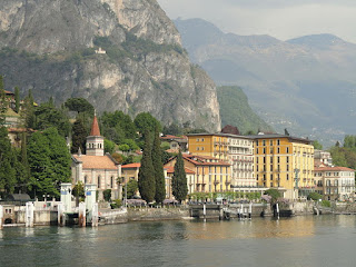 The shoreline at Cadenabbia di Griante, a village on the western side of the picturesque Lake Como
