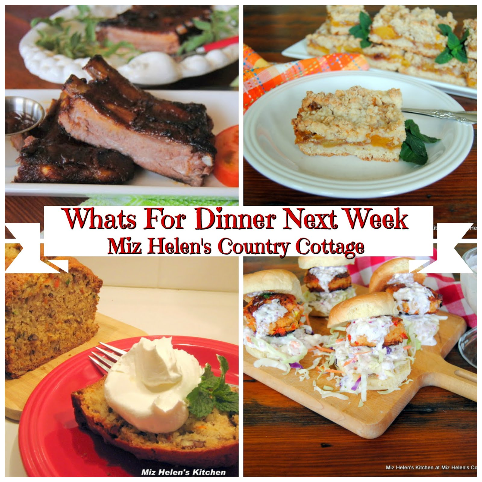 Whats For Dinner Next Week * Week of 8-11-19