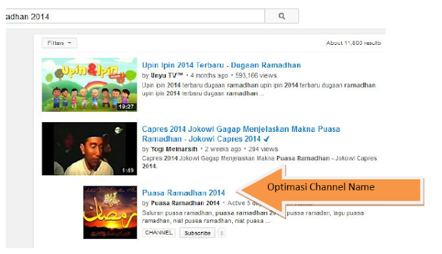 OPTIMASI CHANNEL PAGE YOUTUBE