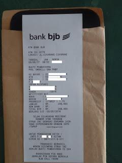 Struk ATM esamsat bank BJB