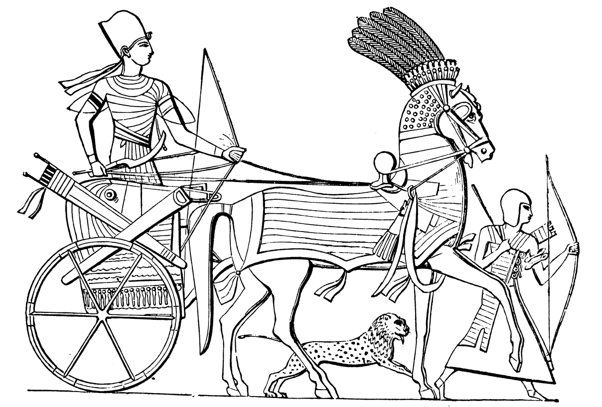 ancient egyptian coloring pages - vi tico de vagamundo ancient egyptian chariots