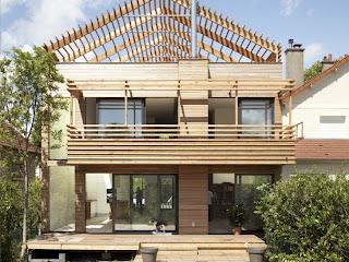 Vivienda urbana de madera