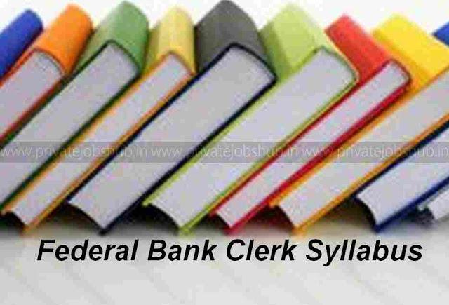 Federal Bank Clerk Syllabus