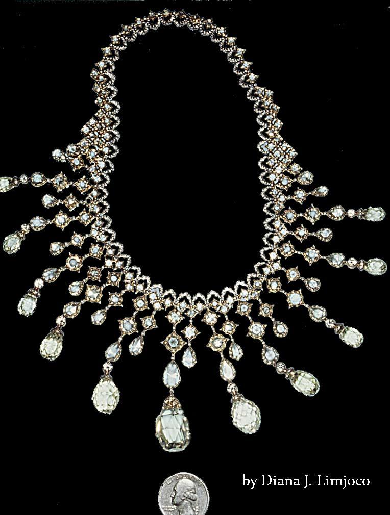 Diamond necklace by Buccellati- 93 carats   Diamond necklace by    Imelda Marcos Jewelry