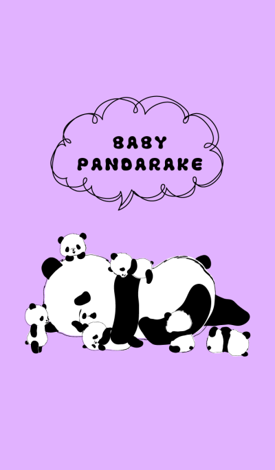 BABY PANDARAKE. (Purple)