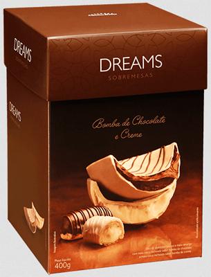 ovo de chocolate para sobremesa dreams bomba de chocolate e creme Cacau Show Páscoa