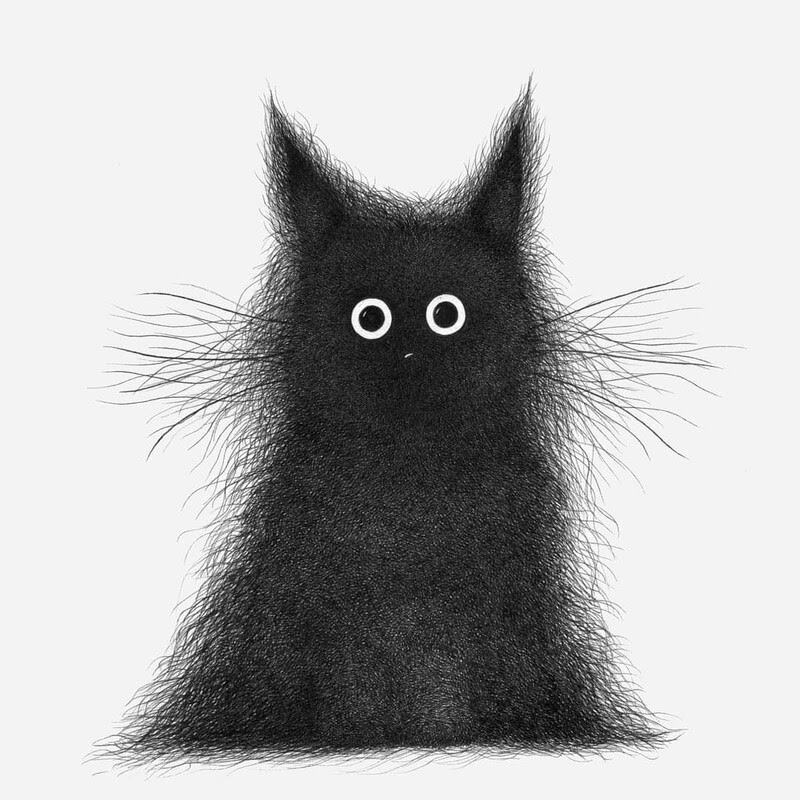 04-Luis-Coelho-Ink-Animal-Drawings-Cats-and-More-www-designstack-co
