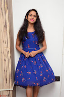 Pallavi Dora Actress in Sleeveless Blue Short dress at Prema Entha Madhuram Priyuraalu Antha Katinam teaser launch 033.jpg