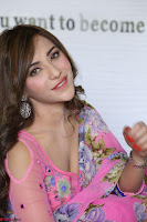 Actress Angela Krislinzki in Pink Saree Blouse Exclusive Pics March 2017 ~  003.JPG