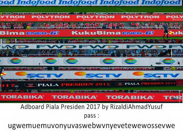 PES 2013 Adboard Pack Piala Presiden 2017 dari Rizaldi