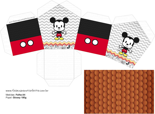 Vintage Mickey: Free Printable House Shaped Box.