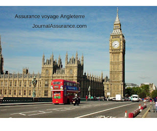 Assurance voyage Angleterre