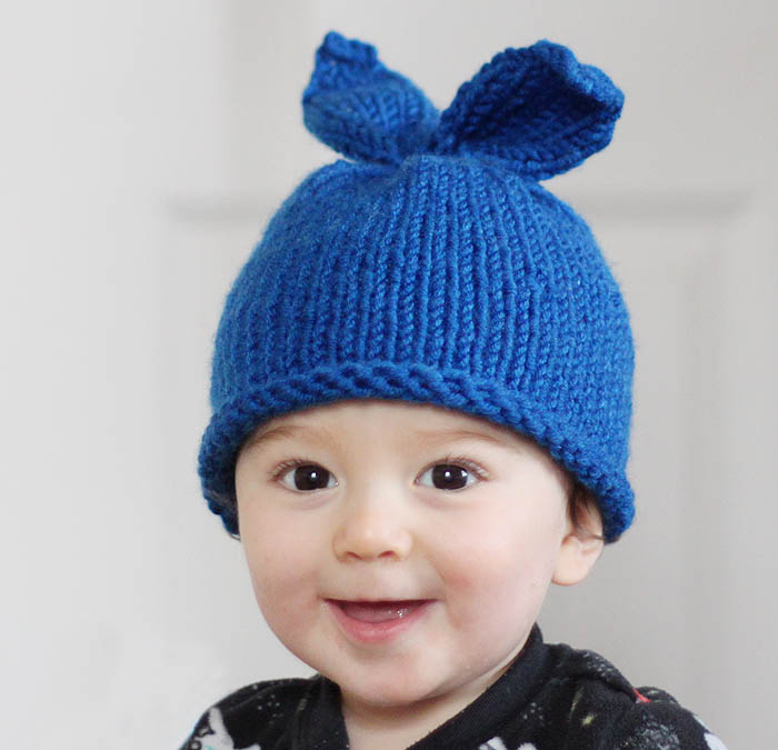 Baby Bunny Rabbit Hat Knitting Pattern - Gina Michele