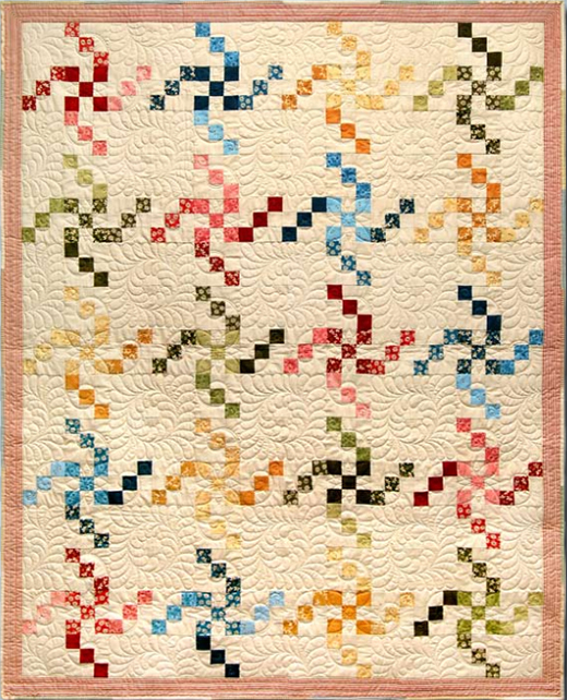 Swirling LuLu Quilt Free Pattern designed by Jackie Robinson Featuring Little LuLu's Sweet Sixteens