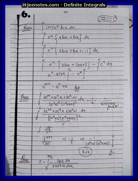 definite integrals 6