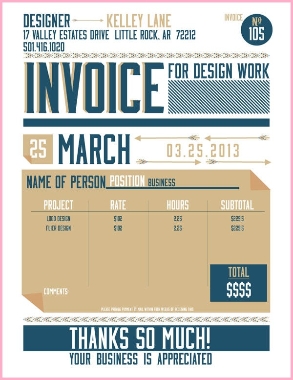 Best Graphic  Invoice Design Images On