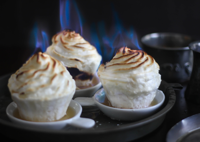 how to make baked alaska on fire