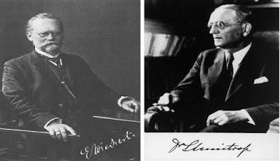 Emil Wiechert (left) and Ludger Mintrop (right)