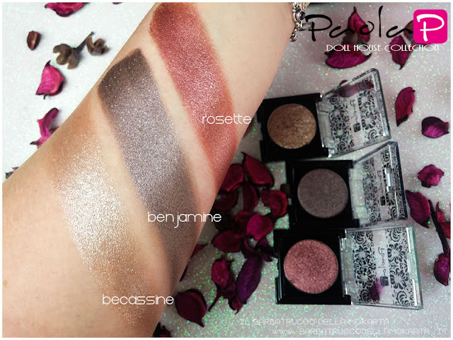 eyeshadow ombretti paolaP doll house  becassine benjamine rosette swatches