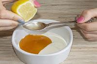 Natürliche Gesichtspflege mit Joghurt und Zitrone