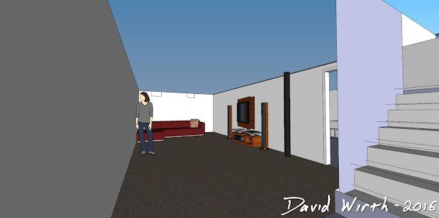 google sketchup, basement, remodel, house