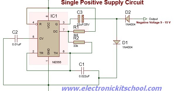 Build Negative Supply Circuit From Single Positive Supply