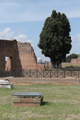 mont Palatin, Rome, Voyage à Rome, ruines de palais,