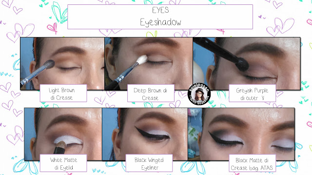Tutorial how to achieve Black  White with BOLD Winged Eyemakeup