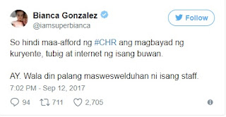 PH Celebrity reacts over P1000 budget for CHR