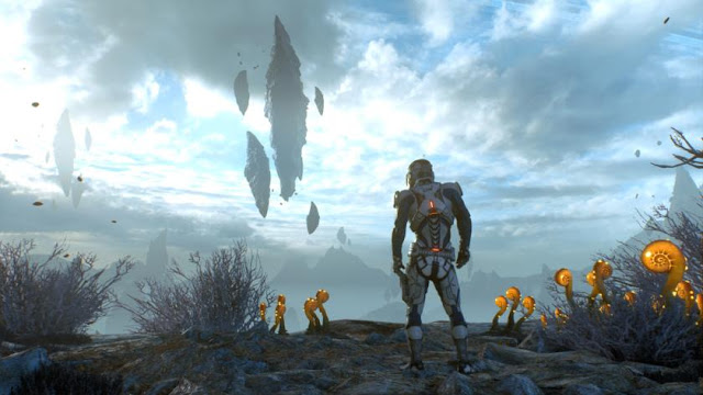 Entornos y paisajes la galaxia Andromeda en Mass Effect Andromeda, el videojuego de BioWare