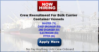 Urgent job hiring for seaman