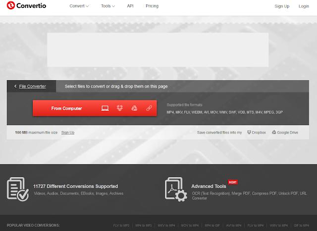 Convertio - אתר להמרות בין קבצי וידאו, אודיו, מסמכים, ארכיבים ועוד