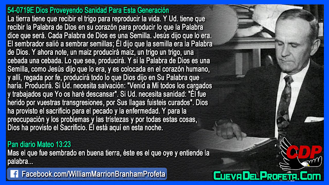 La verdadera Parabola del Sembrador y el Sacrificio de Dios - Citas William Branham Mensajes