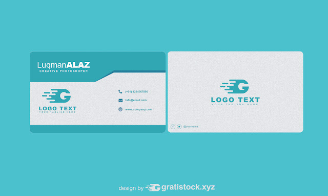 Free Download PSD Cards Businness Simple Dark Blue and White.