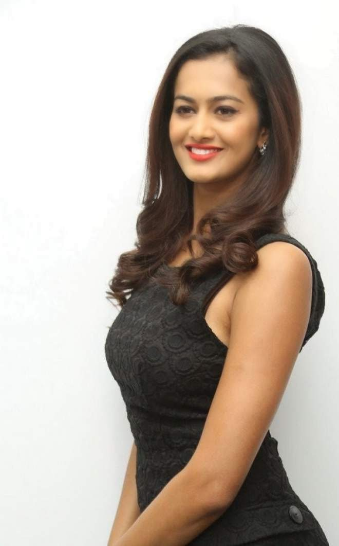 Shubra Aiyappa Latest Stills In Black Mini Skirt