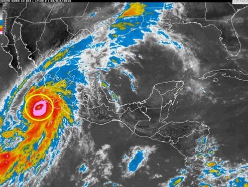 la sierra madre occidental sirvió de protección contra huracán