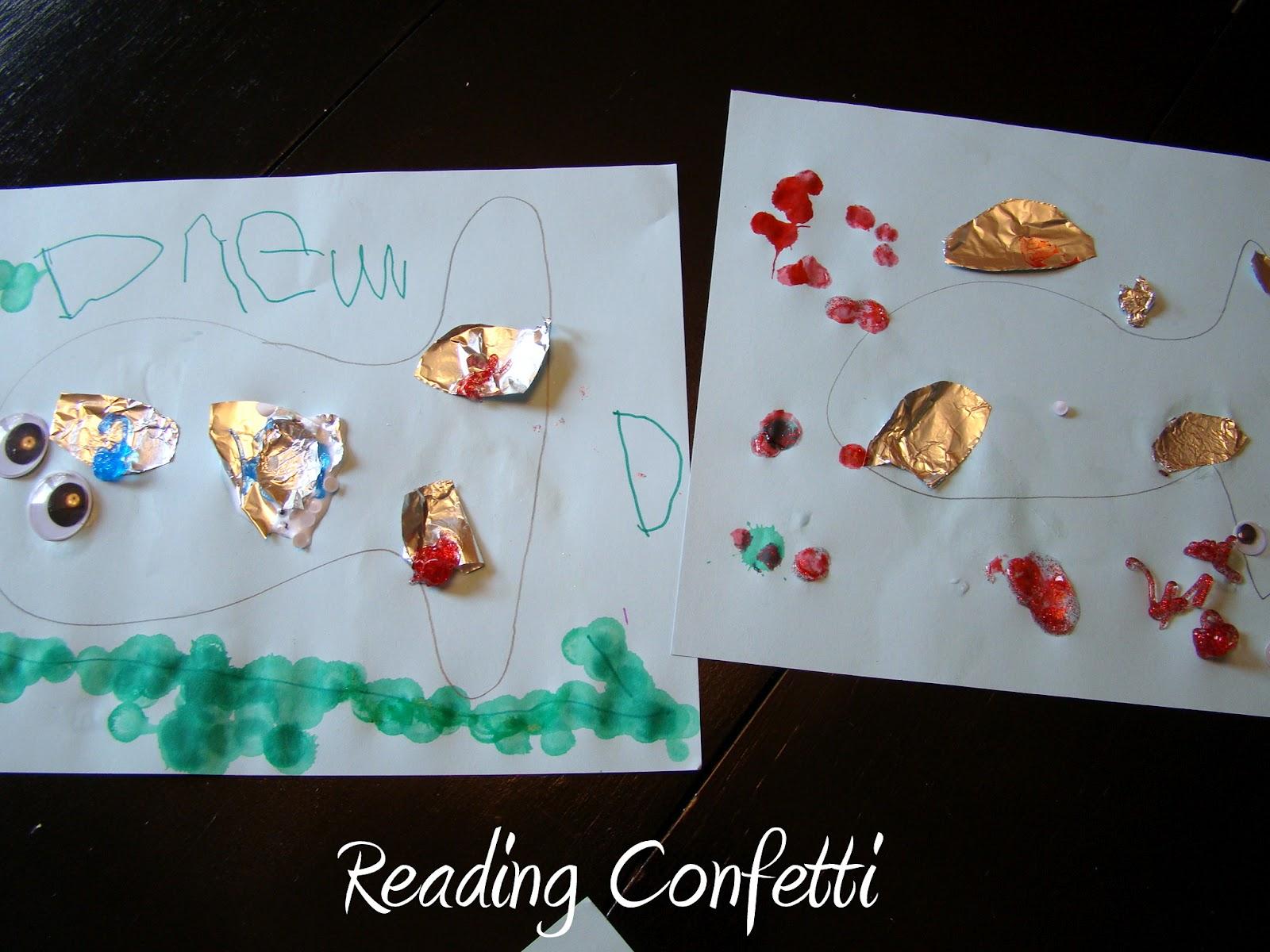 3 Activities For Rainbow Fish Reading Confetti