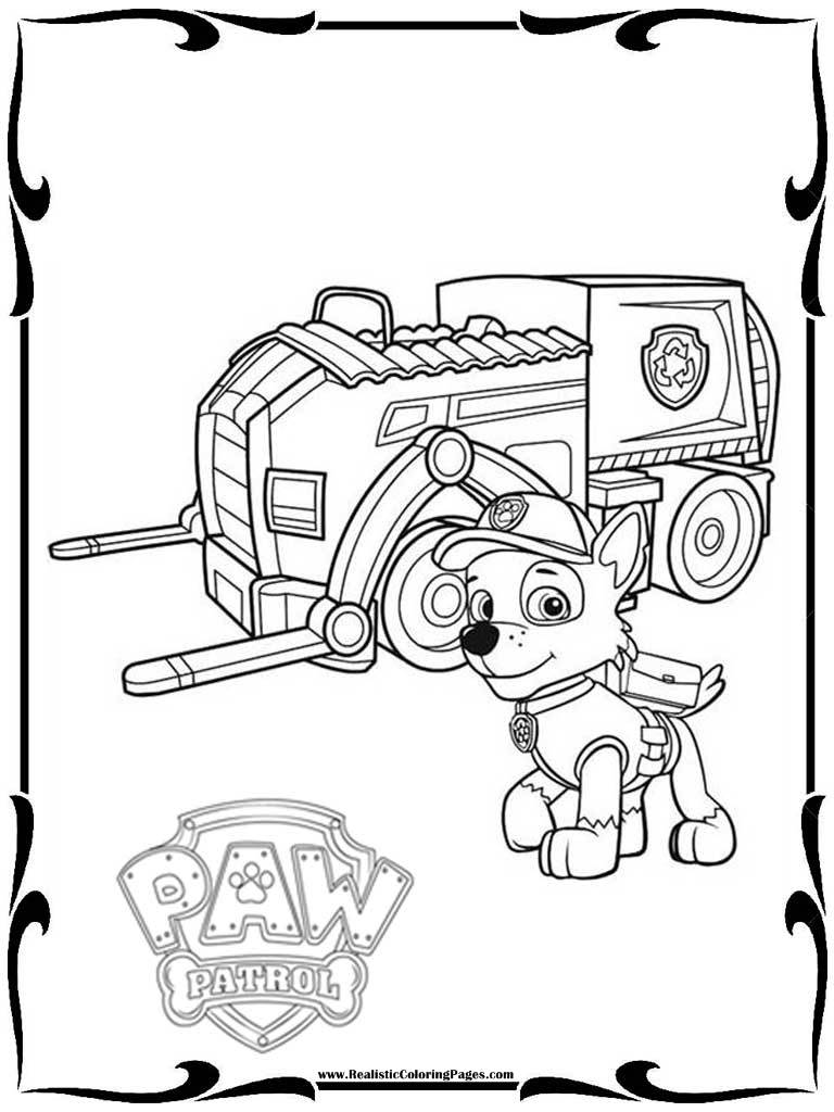 Disney Paw Patrol Coloring Pages : Disney paw patrol coloring pages realistic