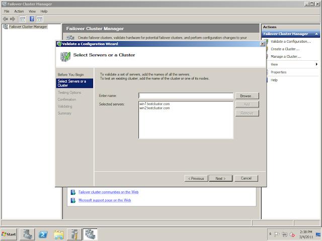 SQL Server DBA: Microsoft SQL Server 2008 R2 Failover