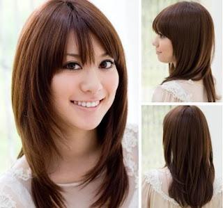 احدث قصات الشعر الطويل