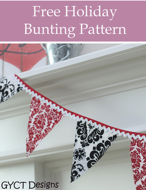 Free Valentine and Holiday Bunting Pattern